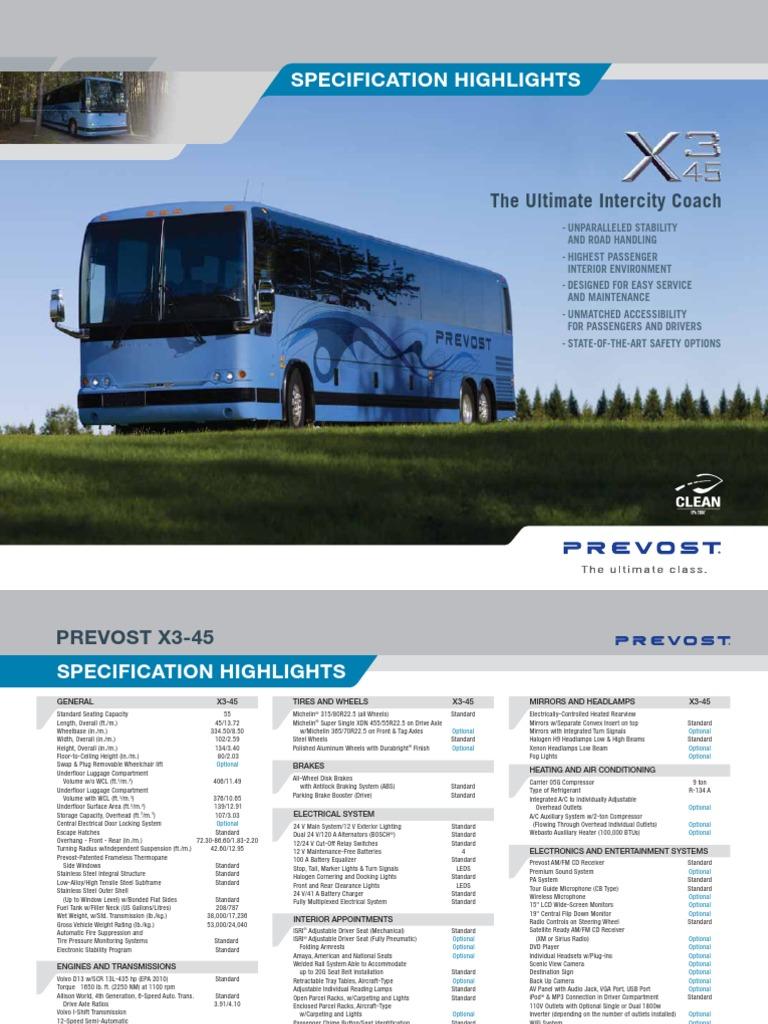 X3 45 Specification Highlights Headlamp Suspension Vehicle Volvo B7r Wiring Diagram