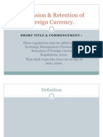 Possession & Retention of Foreign Currency