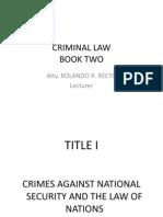 Criminal Law II Presentation