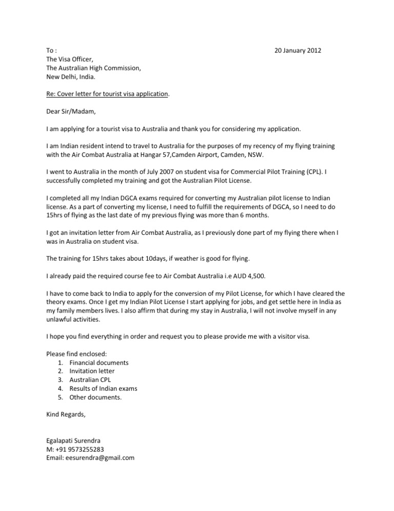 Sample Application Letter For Uk Visa. Cover Letter For Visa