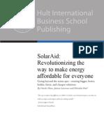 SOLARAID Hult Global Case Challenge IXL 2012 v1.0