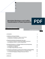 Non-violent Resistance and Conflict Transformation in Power Asymmetries