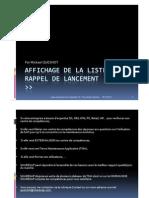 GU_SAP_Affichage de La Liste de Rappel de Lancement