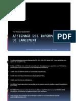 Affichage Des In Formations de Lancement