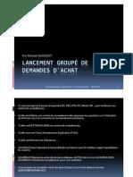 GU_SAP_Lancement groupé de demandes d'achat