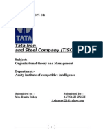 Project Report on TATA iron and steel company (Tisco)