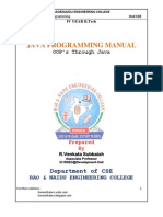 JNTU JAVA Lab Manual Programs