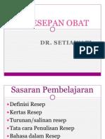 Peresepan Obat - Dr. Wati