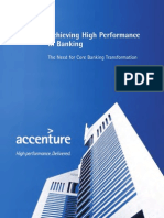 Accenture Industry Accenture Banking High Performance Core Banking Transformation