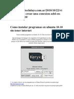 Como Instalar Programas en Ubuntu 10