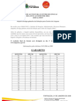 GABARITO CL 2008.1
