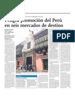 Peligra Promoción de Marca Perú en 6 mercados destino. Falta gestión pública