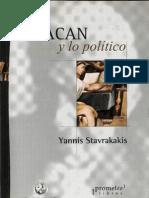Stavrakavis, Yannis - Lacan y lo político