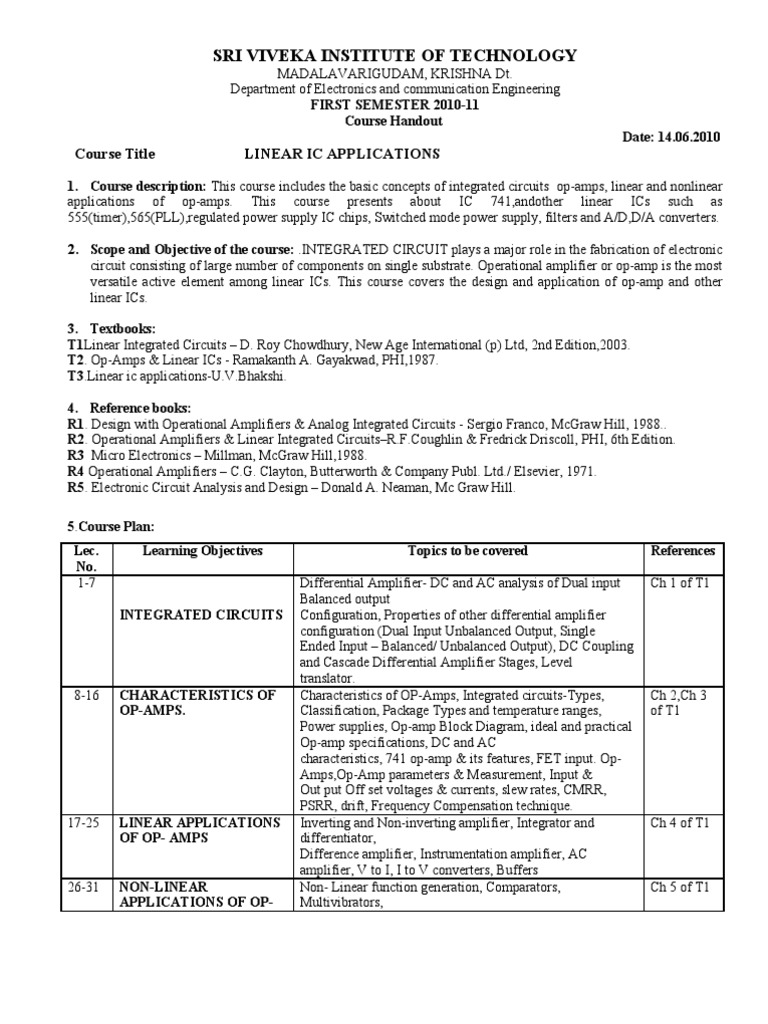 Operational Amplifier By Ramakant Gayakwad Pdf