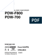 PDW-F800 700 Operation Manual E