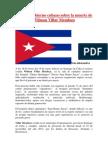 Nota Del Gobierno Cubano Sobre La Muerte de Wilman Villar Mendoza