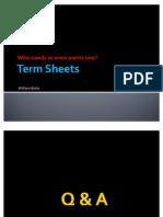 New Term Sheet Presentation FINAL