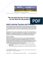 Adult Learning Theories and Practices