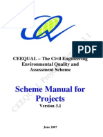 CEEQUAL Projects Manual Version 3.1 for Distribution June 2007