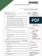 TCE SE fcc 2011 nível médio comentario Português
