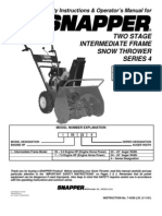 Snapper Snow Thrower i55224,i7244