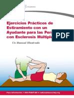 Ejercicios prácticos de estiramiento con un ayudante para las personas con esclerosis múltiple