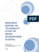 173 Feasibility Study of Micro Hydro Power in Nepal