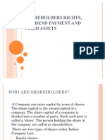 Shareholders Rights, Dividend Payment And