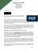 Aldrich Law Firm Settlement Demand Law Letter
