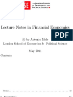 Lecture Notes in Financial Economics