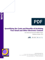 Quantifying the Costs and Benefits of Archiving Your Email and Other Electronic Content - ArcMail Technology & Osterman Research