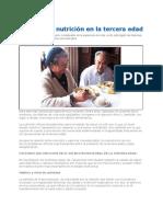 Como Es La Nutricion en La Tercera Edad 2012