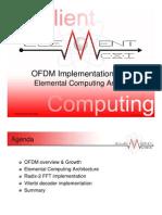 ODFM implementation with Elemental Computing Arrays