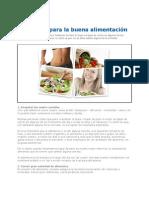 Consejos Para Una Buena Alimentacion 2012
