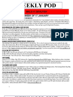 FAMILY READINESS OFFICER, PLAN OF THE WEEK, THE WEEK OF 17 JANUARY 2012