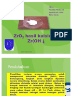 ZrO2 Hasil Kalsinasi Zr(OH)4