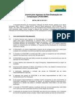 Poscomp Edital 001 2011