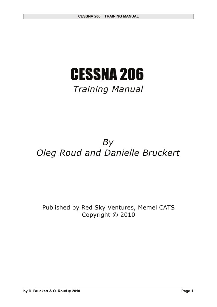 C206 Training Manual SAMPLE 1Jul2011 | Aviation | Aerospace Engineering