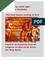 God Teaches Birth Right Worldwide Timetable