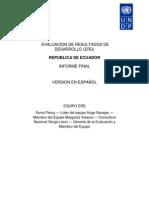 UN Evaluacion Desarrollo Ecuador