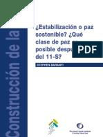Estabilización o paz sostenible CONFLICTOS-11S