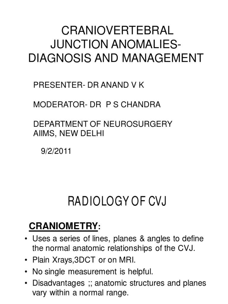 CVJ Anomalies Diagnosis and Management 2011 | Vertebra | Vertebral ...