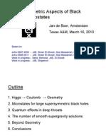 Jan de Boer- (Non)geometric Aspects of Black Holes Microstates
