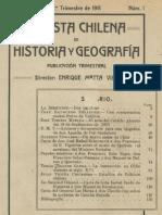 Revista chilena de Historia y Geografía, N° 1, año I, 1er. Trimestre de 1911.