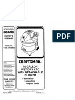 Craftsman 16gal Wet-dry Vac Owners Manual