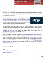 London Silicon Roundabout Weekly Newsletter 20-January-2012