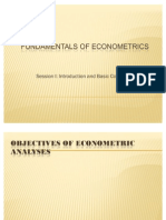 Fundamentals of Econometrics-i
