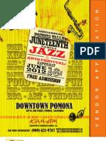 23rd Annual Pomona Valley Juneteenth Arts & Jazz Festival - Vendor Application