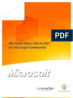 Word 2007 for Legal