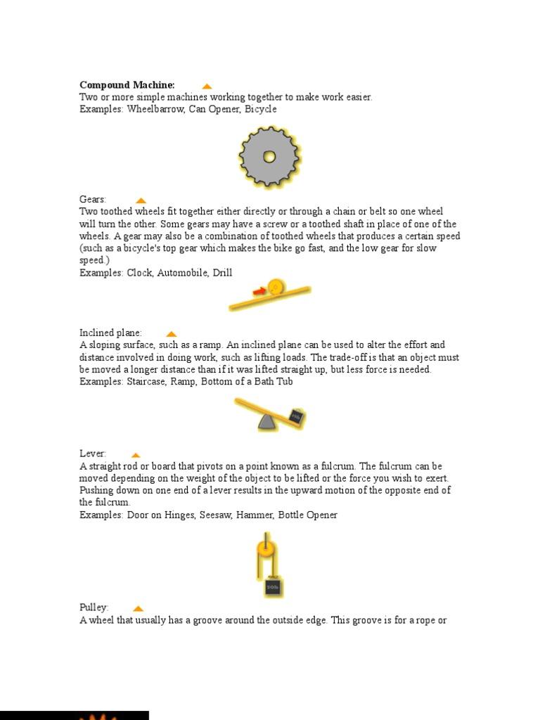 Simple Machine Component Of Rube Goldberg Gear Machines